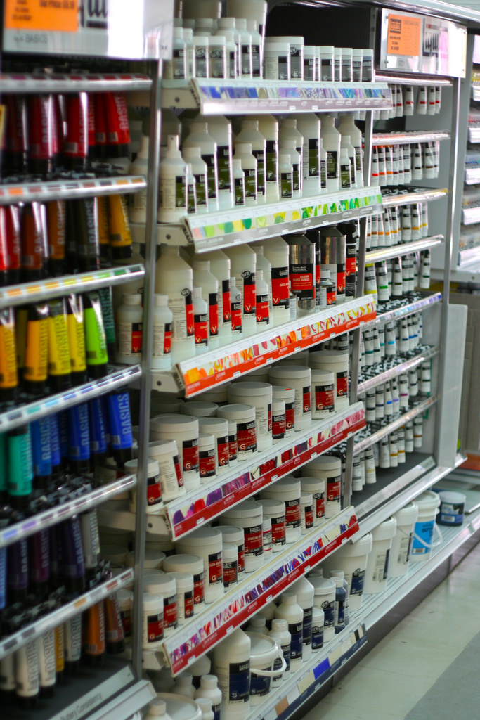 new ways of color labeling for acrylic paint manufacturing